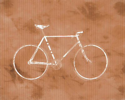 Bicycle On Tile Poster by Dan Sproul