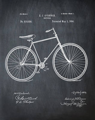 Bicycle Patent 1894 Chalk Poster