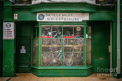 Poster featuring the photograph Bicycle Sales, Service And Repair by Craig J Satterlee