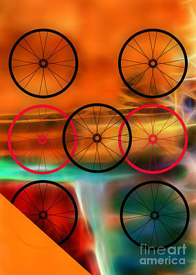 Bicycle Wheel Collection Poster by Marvin Blaine