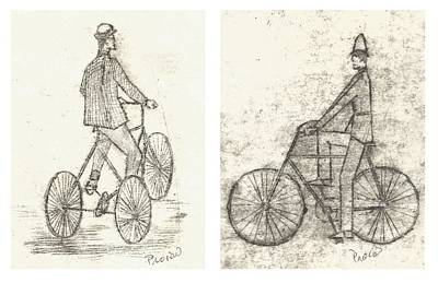 Bicycles Engravings Poster