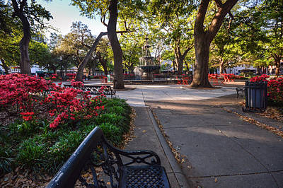 Bienville Square At Easter Poster by Michael Thomas