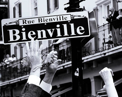 Poster featuring the photograph Bienville Street In New Orleans by Ray Devlin