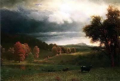 Bierstadt Albert Autumn Land Poster