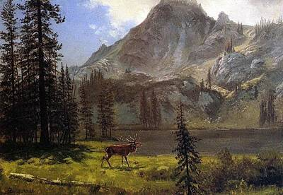 Bierstadt Albert Call Of The Poster