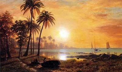 Bierstadt Albert Tropical La Poster