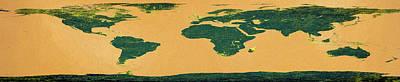 Big Abstract World Map  Poster by Bob Orsillo