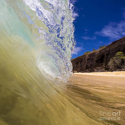 Big Beach Maui Shore Break Wave Poster by Dustin K Ryan
