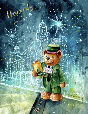 Big Bear Harrods Poster by Miki De Goodaboom