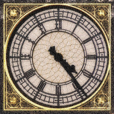 Poster featuring the photograph Big Ben Clock Color By Numbers 20161115 by Wingsdomain Art and Photography