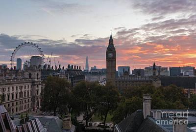 Big Ben London Sunrise Poster by Mike Reid