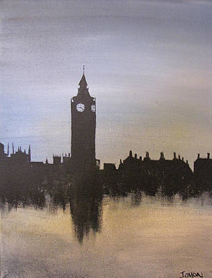 Poster featuring the painting Big Ben Of London by Gary Smith