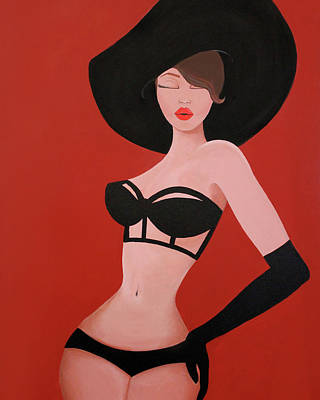 Big Black Hat Poster by Allison Liffman