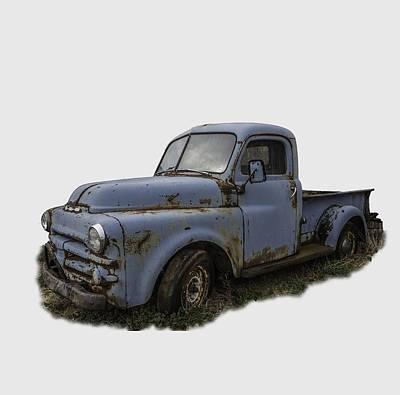 Big Blue Dodge Alone Poster