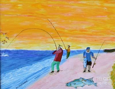 Big Blues At Herring Cove Poster by Bill Hubbard