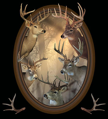 Big Bucks Poster by Shane Bechler