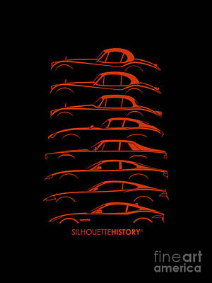 Big Cat Coupe Silhouettehistory Poster by Gabor Vida
