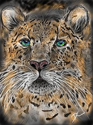 Poster featuring the digital art Big Cat by Darren Cannell