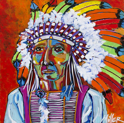 Big Chief Poster by Tracy Miller
