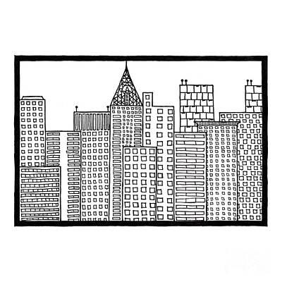 Big City Poster by Konstantin Sevostyanov