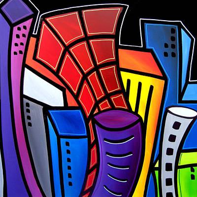 Big City Nights Poster by Tom Fedro - Fidostudio