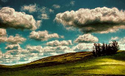 Big Clouds Poster by John K Woodruff