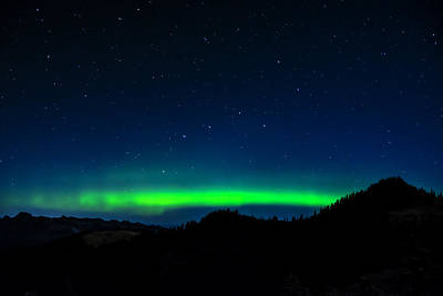 Big Dipper Northern Lights Poster
