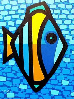 Big Fish At Swim Poster by John  Nolan