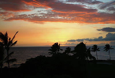 Poster featuring the photograph Big Island Sunset by Anthony Jones