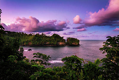 Big Island Sunset Poster by Jeremy Clinard