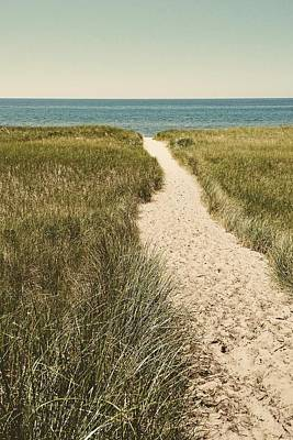Poster featuring the photograph Big Lake Beach Path by Michelle Calkins