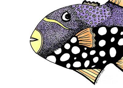 Big Purple Fish Poster