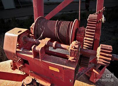 Poster featuring the photograph Big Red Winch by Stephen Mitchell