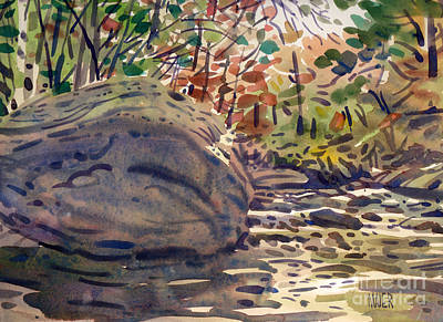 Big Rock At Sope Creek Poster by Donald Maier