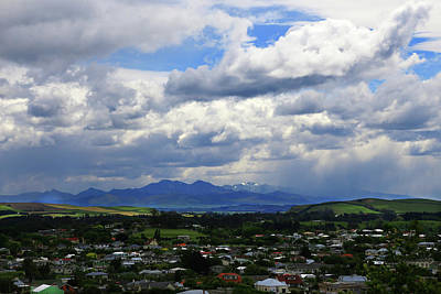 Poster featuring the photograph Big Sky Over Oamaru Town by Nareeta Martin