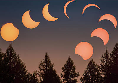Poster featuring the photograph Big Sky Solar Eclipse // Whitefish, Montana  by Nicholas Parker