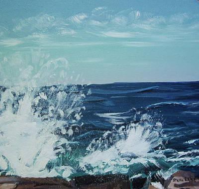 Big Splash At Schoodic Point Poster