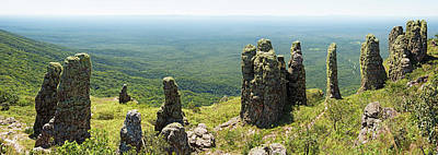 Big Standing Monolitic Rocks At Serrania De Chiquitania Poster by Dirk Ercken