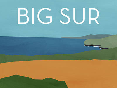 Big Sur Landscape- Art By Linda Woods Poster