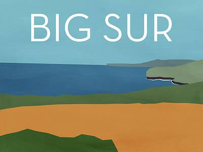 Big Sur Landscape- Art By Linda Woods Poster