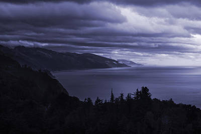 Big Sur Storm Poster by Matt  Trimble