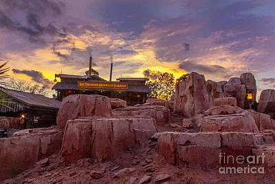 Big Thunder Mountain Sunset Poster