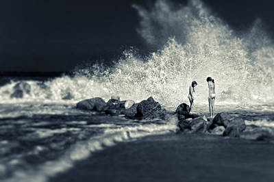Big Wave Poster by Silvia Ganora