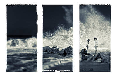 Big Wave Triptych Poster by Silvia Ganora