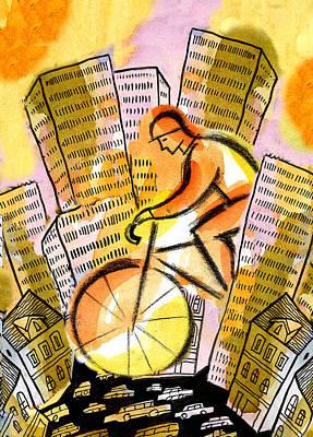 Bike And The City Poster by Leon Zernitsky