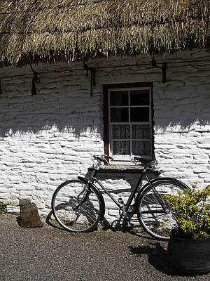 Bike At The Window County Clare Ireland Poster