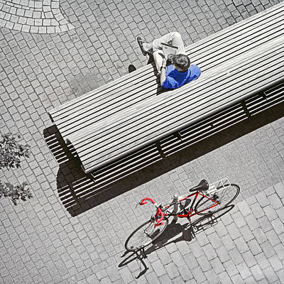 Poster featuring the photograph Bike Break by Keith Armstrong