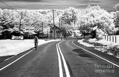 Bike Ride Infrared Poster by John Rizzuto