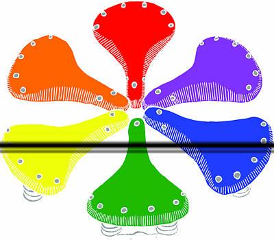 Bike Saddle Color Theory Poster