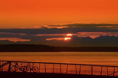Bike Sunset Poster